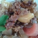 Æble-rabarberkage med rugbrød
