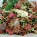 Kornsalat med rabarber